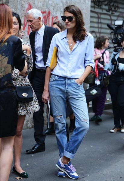 С чем носить подвернутые джинсы?