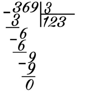 Деление с помощью таблицы умножения