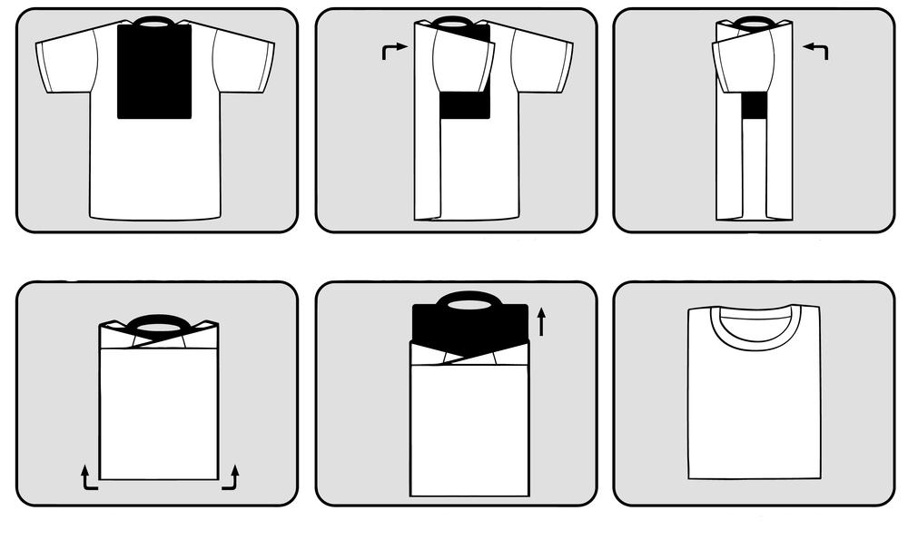 Классическое складывание футболки