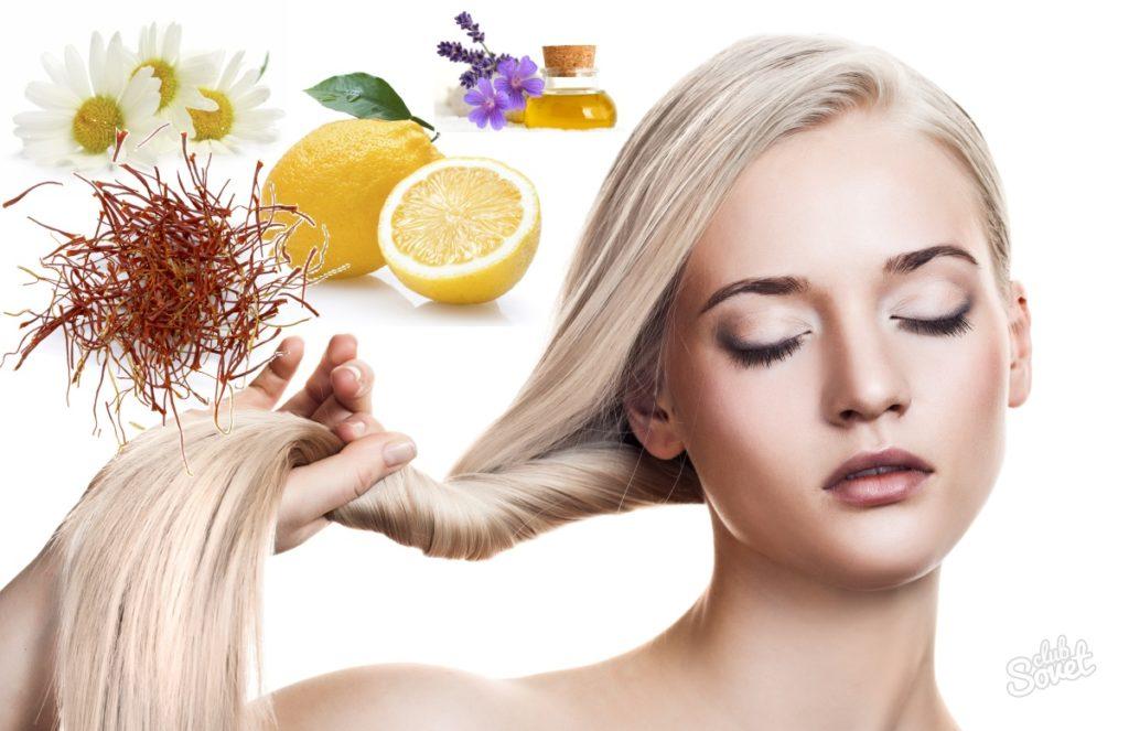 Народные средства для осветления волос