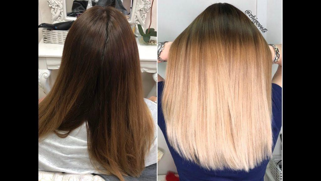 Особенности осветления темных волос.